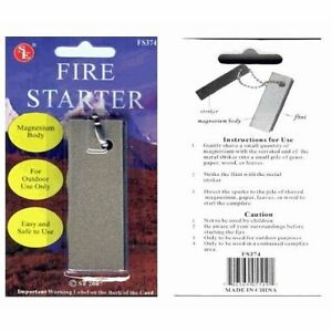 FIRE-STARTER-tool-Large-Magnesium-Block-with-Striker-and-Keychain