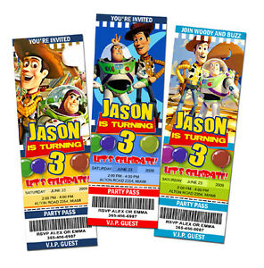 toy story birthday party invitation ticket    invite custom, Party invitations