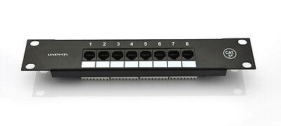 "Network 10 inch mini 8ports Cat5e Patch Panel Rack Mount / 10"" Cabinet RackMount"