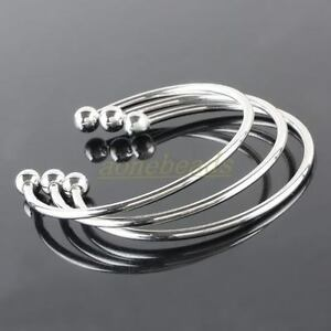 Xy217-5PCS-Silver-Plated-European-Style-Bangle-Bracelet-Findings-Fit-Charm-Beads
