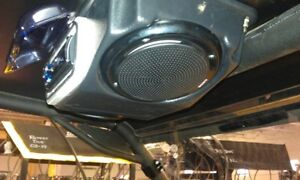 EMP-COOTER-BROWN-POLARIS-RZR-08-12-S-800-900-XP-OVERHEAD-STEREO-SPEAKER-FOR-ROOF