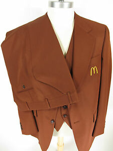 vtg-1976-McDonalds-DEADSTOCK-UNIFORM-3-piece-suit-jacket-vest-pants-43-L-RARE