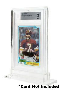 BGS BECKETT REGULAR THICKNESS Display Graded Card Stand Showcase WHITE