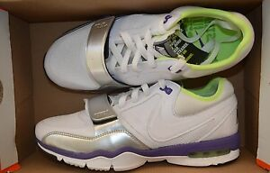 NIKE-WOMENS-AIR-MAX-TRAINER-ONE-SHOES-SIZE-7-white-purple-407865-111