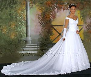 Hochzeitskleid creme lang