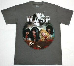 W-A-S-P-HEADS-HEAVY-METAL-ALICE-COOPER-TWISTED-SISTER-KISS-NEW-GREY-T-SHIRT