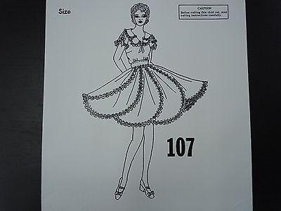 New!! C & C Originals Square Dance Pattern 107