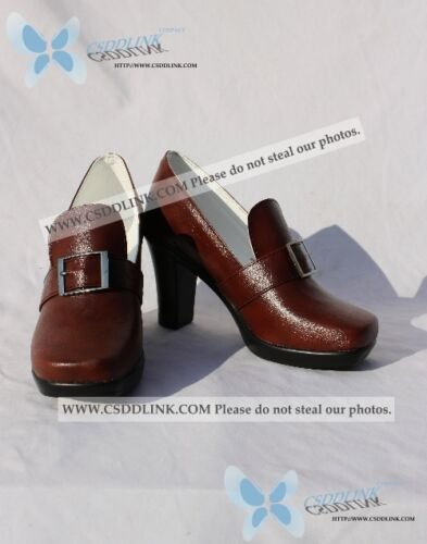 Black Ciel Phantomhive cosplay shoes boots Butler brown