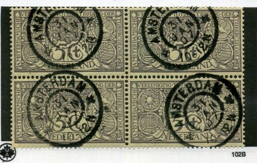 NETHERLANDS SCOTT B3 BLOCK OF 4 CANCELLED STAMP