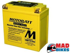 TRIUMPH-TIGER-800-MOTOBATT-MBTX16U-Mejora-Agm-Bateria-ytx16-bs-2011a-2014