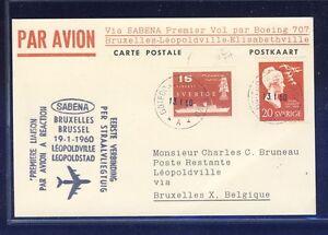 45086-SABENA-FF-Bruessel-Leopoldville-Congo-19-1-60-ab-Schweden