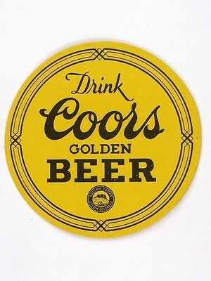 Very Tough 1930s Coors Golden Beer 3½ inch coaster Yellow Tavern Trove