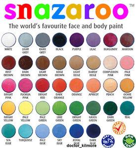 Snazaroo-Cara-Cuerpo-Pintura-Fancy-Dress-18ml-Maquillaje-30-Colores-Clasicos