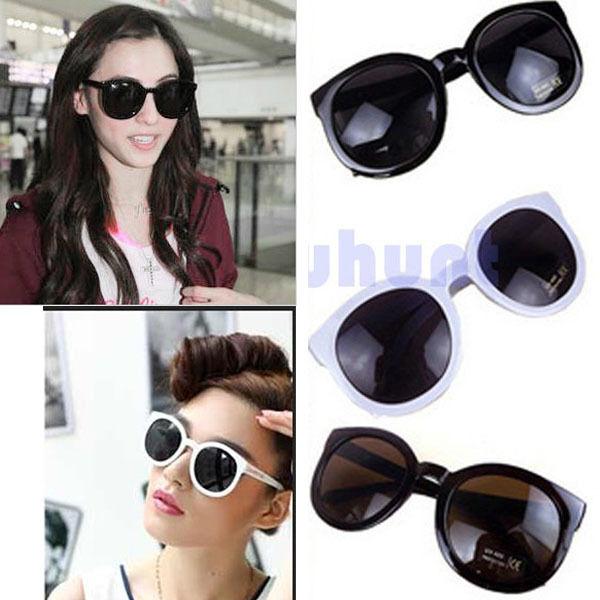 Fashion Round Glass Retro Style Sunglasses Unisex Coffee,Black,White Sunglasses