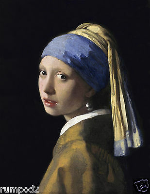 Vermeer's 'Girl With The Pearl Earring' -Art print-Painting-Poster Reproduction