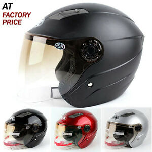 DOT-ECE-Brand-Motorcycle-Scooter-3-4-Open-Face-Helmet-With-Flip-Up-Face-Shield