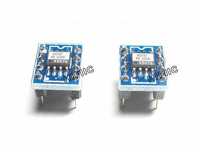 2pcs AD AD797 AD797AR on SOIC DIP adapter
