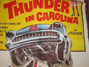 Thunder In Carolina 1 Sheet Racing Poster 1960 Early Nascar