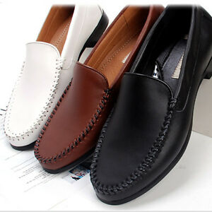 new mens casual dress leather shoes loafers slip on shoe