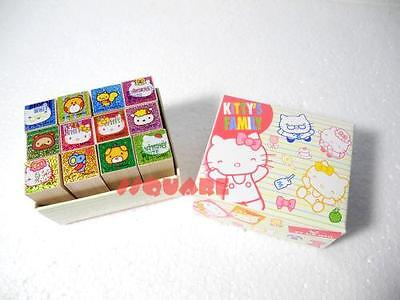 Sanrio Hello Kitty (Kitty's Family) Mini Wooden 12 Stamps Set
