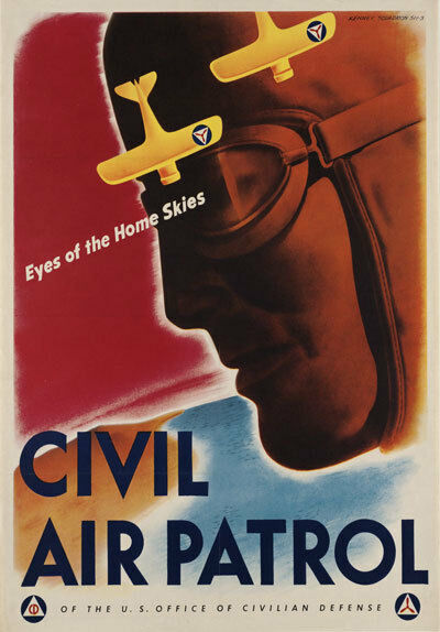 2W8 Vintage WWII Civil Air Patrol War Defence Military War Poster WW2 A4