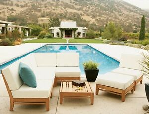 7-PC-TEAK-WOOD-OUTDOOR-PATIO-SECTIONAL-SOFA-SET-BRAND-DELMAR-COLLECTION
