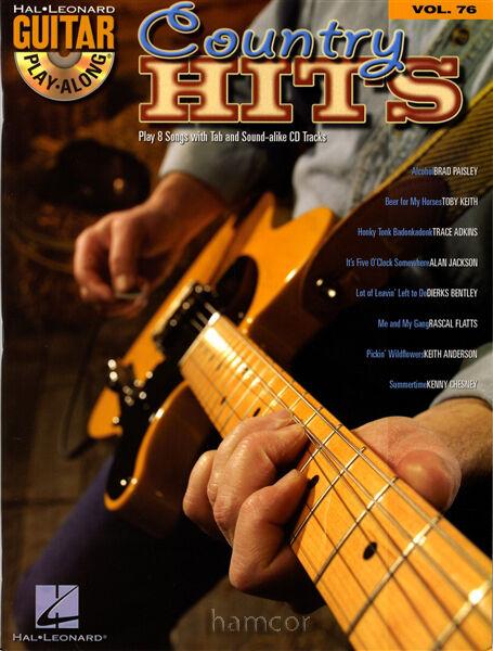 Country Hits Guitar Play-Along Vol 76 TAB Brad Paisley Toby Keith Alan Jackson