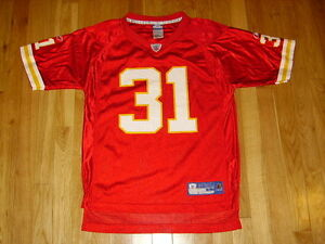 New-Reebok-On-Field-PRIEST-HOLMES-Red-Kansas-City-CHIEFS-Youth-NFL-Team-JERSEY-L