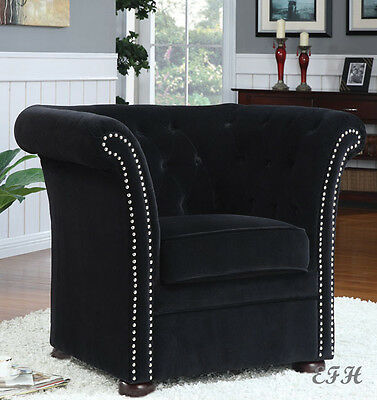 NEW MARBERRY BLACK OR BEIGE HIGH BACK ACCENT CHAIR