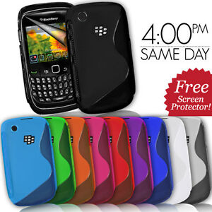 GRIP-S-LINE-SILICONE-GEL-CASE-FITS-BLACKBERRY-CURVE-8520-9300-FREE-SCREEN-GUARD