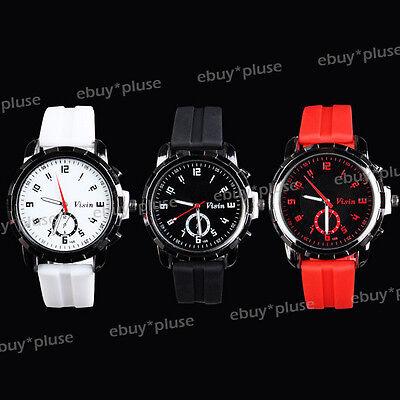 New Fashion Silicone Rubber Band Men Unisex Sport Analog Quartz Wrist watch Gift