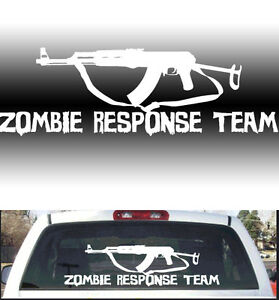 Zombie Outbreak Response Ak Big Rear Window Decal X EBay - Rear window decals for vehicles