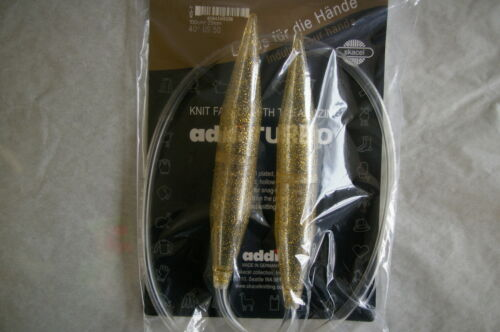 "Addi TURBO Circular Knitting Needles 40/"" Selected Sizes"