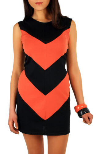 Women/'s Shift Dress Unique Pattern Tunic Style Sleeveless Top Size 10-18 FA19