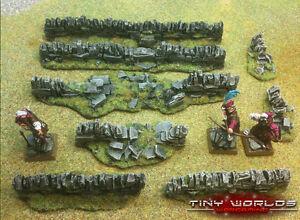 Stone-Walls-Set-8-Pieces-Wargames-Scenery-Ruins-Warhammer-Fantasy-Wall