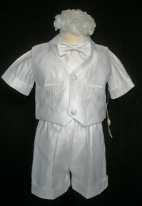 baby-Toddler-Boy-Christening-Baptism-Gown-Outfit-suit-size-XS-S-M-L-XL-2T-3T-4T