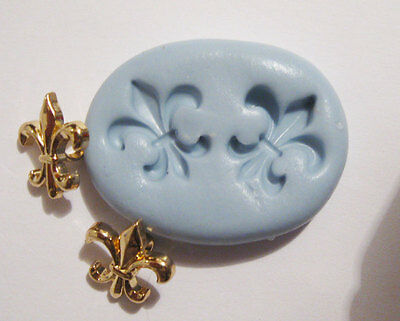 Fleur de Lis Flexible Silicone Push Mold Polymer clay food Resin food Miniature