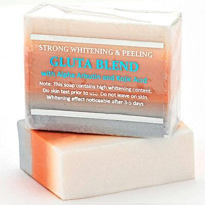 Premium Maximum Whitening/Peeling Soap w Glutathione Arbutin & Kojic acid-Wow!