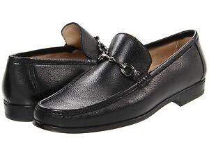 Bruno-Magli-Mens-Massyf-Black-Bit-Slip-on-Business-Casual-Loafers-Dress-Shoes