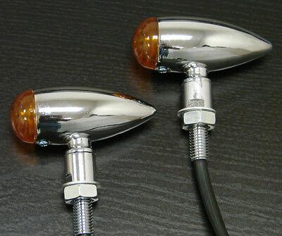 Chrome Bullet Mini Turn Signal for Suzuki Intruder Volusia Boulevard C50 C90 M90