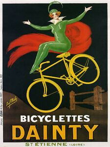 Fashion-Green-Lady-Bike-Bicycle-Dainty-French-Fine-Vintage-Poster-Repro-FREE-S-H
