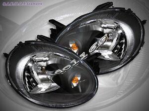 2003 2004 2005 Dodge Neon Headlights JDM Crystal Black #2: s l300