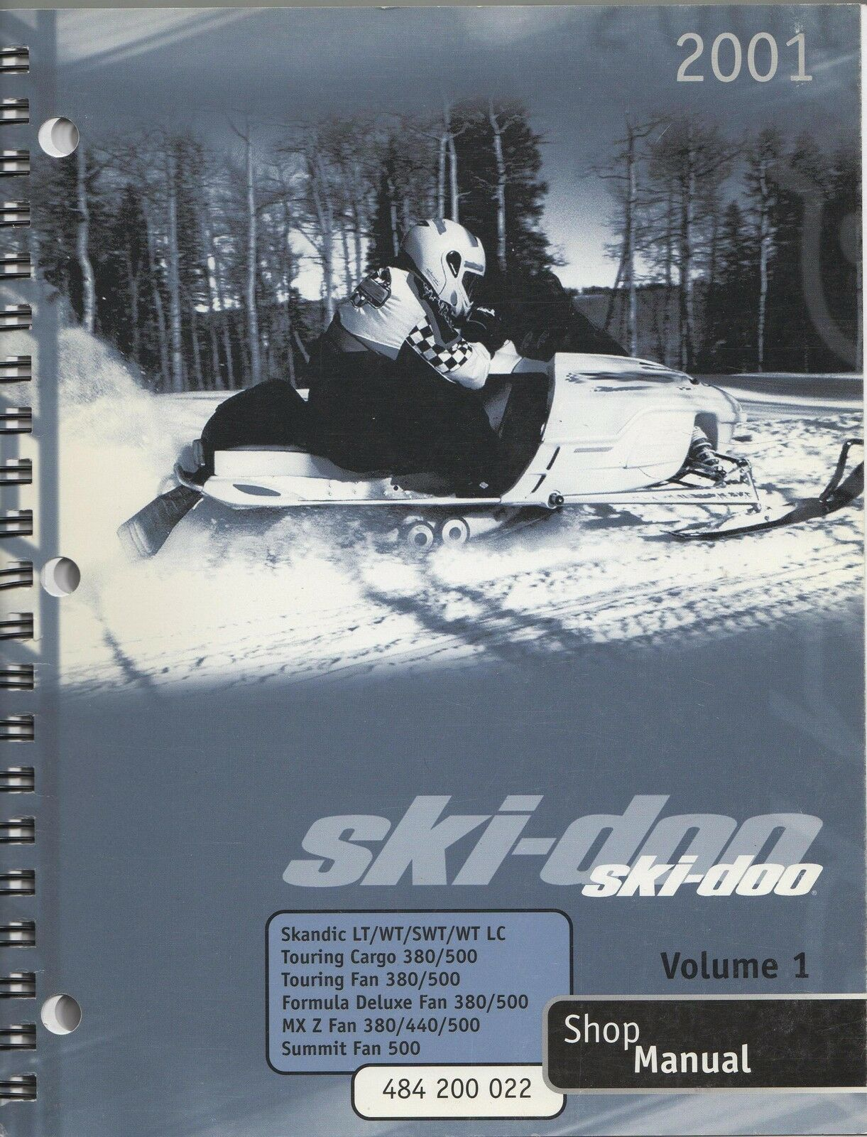 2001 SKI -DOO SNOWMOBILE VOLUME 1(SEE COVER) SHOP MANUAL  NEW