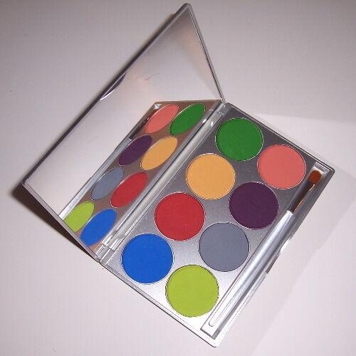 Tropical Paradise Palette Body Face Painting Mehron Makeup Profesional Paint Kit