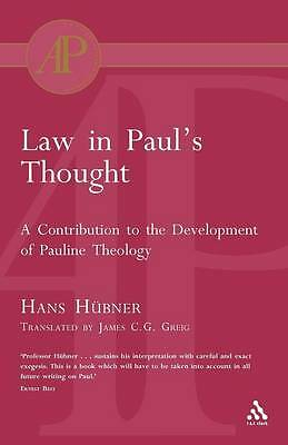 LAW IN PAUL'S THOUGHT: A CONTRIBUTION TO THE DEVELOPME