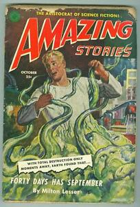 Amazing-Stories-October-1951-VG-Forty-Days-Has-September