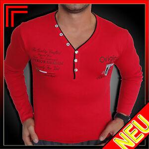Herren-Sweat-T-Shirt-Sweatshirt-Longsleeve-Italia-Italy-Rot-S-M-L-XL-XXL-NEU