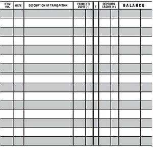 20 EASY TO READ CHECKBOOK TRANSACTION REGISTER LARGE PRINT CHECK ...