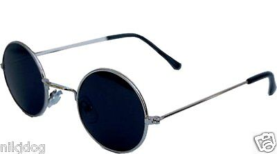 John Lennon Sunglasses Round Hippie Shades Retro Smoked Lenses Gold Black Silver