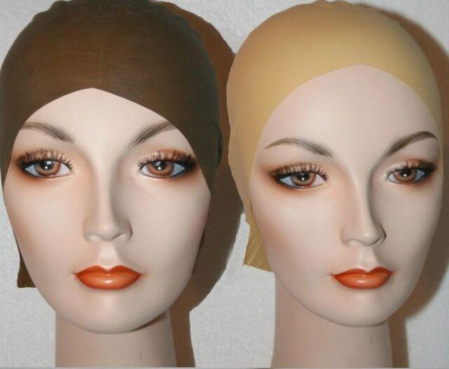 Bald Skin Head Cap latex theater mask life casting wig flesh clown no hair bare